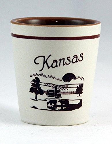 Kansas Farm Ceramic Shot Glass