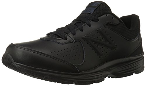 New Balance Men's MW411v2 Walking Shoe,  Black, 7 XW US
