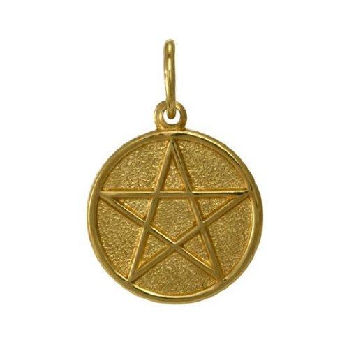 Pendentif Pentagramme en Or Jaune 9 Carats