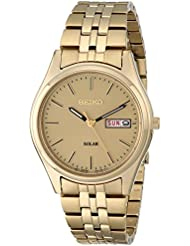 Seiko Mens SNE036 Stainless Steel Solar Watch
