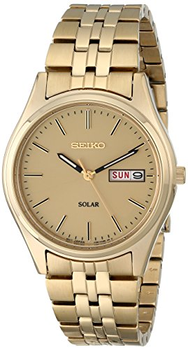 (Seiko Men's SNE036 Stainless Steel Solar Watch )