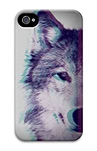 iPhone 4 Case, Customized Protective Wolf Hard 3D Case Cover for iPhone 4 4s