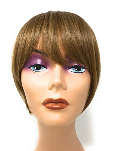 Hair Etc. One Piece Clip In Bangs - Real Natural Human Hair Blend Extension For Women Color (#16/10 Light Brown W/ - Brown Light Ebony