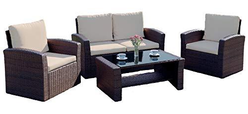 Rattan Outdoor Garden Patio/Conservatory 4 Seater Sofa and Armchair set...