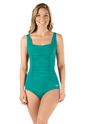Speedo-7234015-Womens-Shirred-Tank-Speedo-Endurance-Tropical-Teal-14