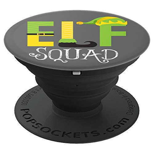 Elf Squad Matching Family Group Xmas Holiday - PopSockets Grip and Stand for Phones and Tablets]()