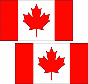 "2-3/"" x 1.8/"" Canada Flag Decal SET Canadian Maple Leaf Vinyl Car Bumper Sticker"