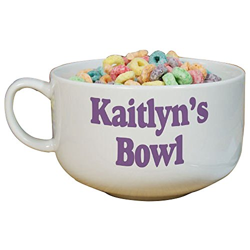 GiftsForYouNow Any Message Personalized Cereal Bowl, 32 oz, Ceramic