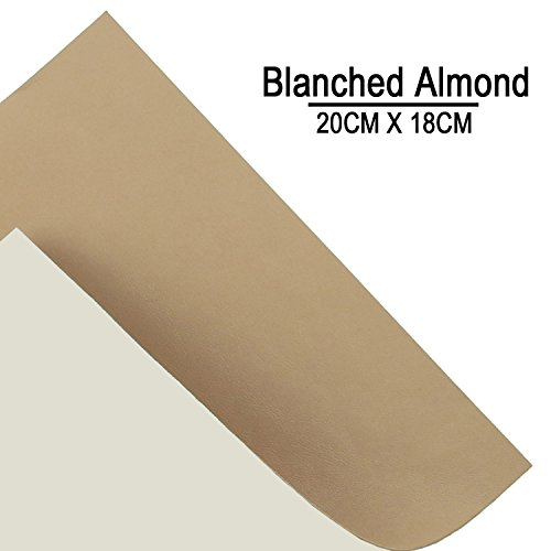 Almond Car (Sheep Blanched Almond Leather Repair Patch & Vinyl Adhesive For Sofas Car Seats Handbags Jackets)