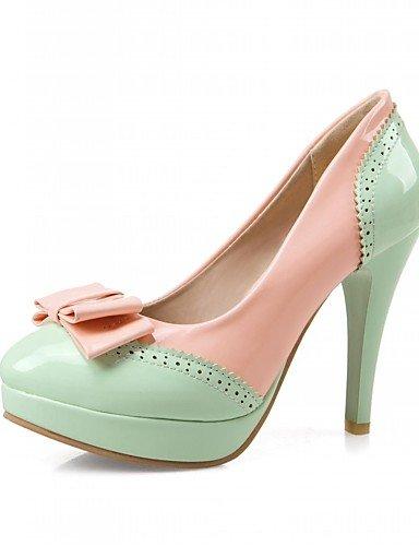 Eu39 Stiletto tacones Blanco Rosa Vestido Uk6 Casual Zapatos tacones De tacón Morado 5 Y oficina microfibra 5 Cn40 Green us8 negro Ggx Mujer Trabajo wYIqaaR