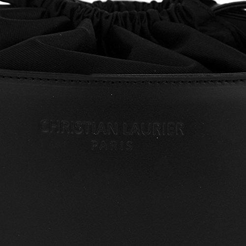 Christian Laurier - Sac à main en cuir modèle Gwen noir - Sac à main haut de gamme fabriqué en Italie