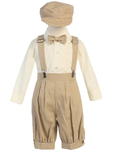 Vintage Baby Toddler Boys Knickers Suit Tan (Boys Tan Suits)