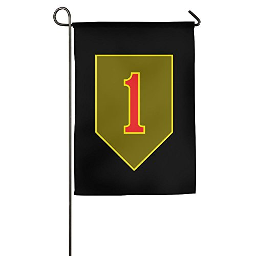 AquarScorp Us Army 1st Infantry Division Veteran Garden Flag 12 X 18 Inch Size Banner For Outdoor Decorative Black Fall Outdoor Pendant