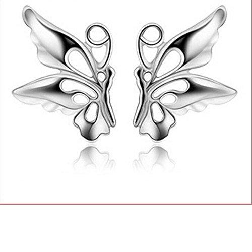Auwer Cute Butterfly Earrings, Fashion Korean Style Women Crystal Rhinestone Ear Earrings Jewelry (LCL7913) (Stars Crystals Swarovski Chandelier)