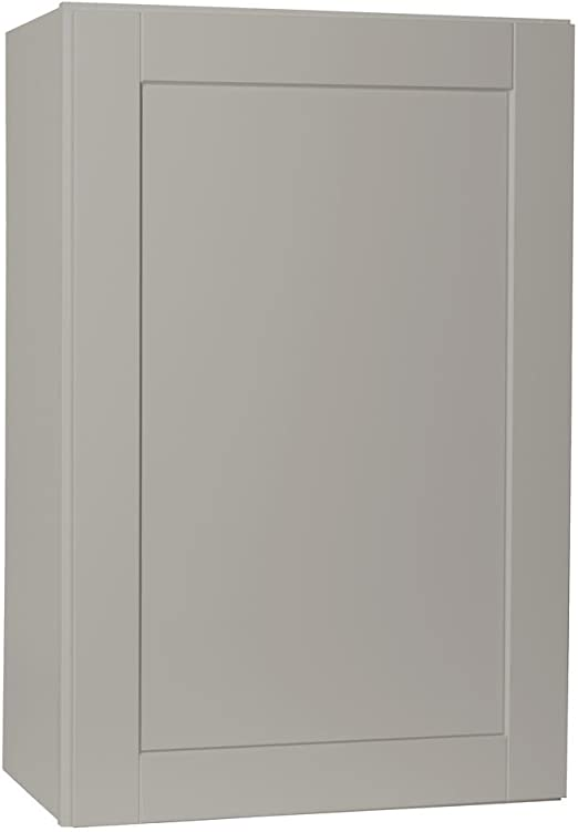 Hampton Bay 25 inch W 4-Door Tall Cabinet in White Durable Solid Wood Storage