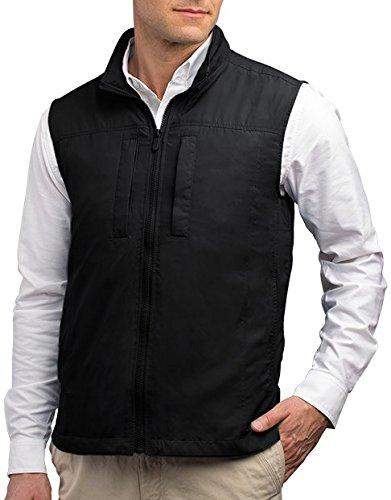 SCOTTeVEST Men's Featherweight Vest - 14 Pockets - Travel Clothing BLK L