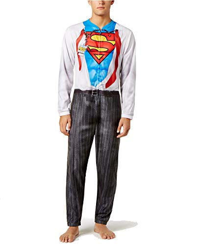 Briefly Stated Men's Superman Jumpsuit Pajama Multi -