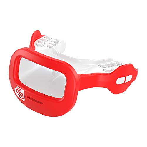 Shock Doctor 3700 Mutant Mouth Guard, Red, One Size