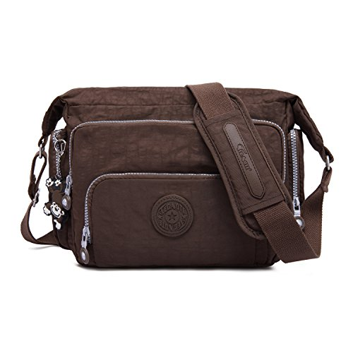 Pack Side Body Shoulder Brown Foino Designer Bookbag Messenger Satchel Sport Fashion For Travel Crossbody Girls Cross Bag Women wzvpCpxXq