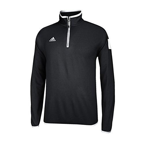 (adidas climalite Shockwave 1/4 Zip Long sleeve, black/White, Xx-Large)