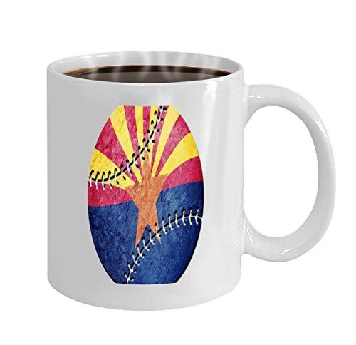 Funny Gifts for Halloween Party Gift Coffee Mug Tea baseball arizona state flag background sport -