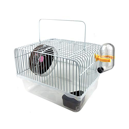 Petzilla Basic Hamster Cage Habitat, Travel Carrier for Small Animal (Brown)