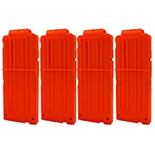 EKIND Soft Bullet Quick Reload Clips 12 Darts Clips for Nerf N-strike Elite Magazine Toy Gun (Pack of 4)