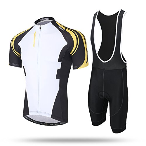Pinjeer Men's Outdoors Cycling Clothing Sets,Quick Dry Good Air Permeability Jersey Shorts Men Suits,Benefit to Hiding camping