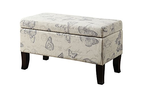 - Convenience Concepts Designs4Comfort Winslow Storage Ottoman, Butterfly Fabric