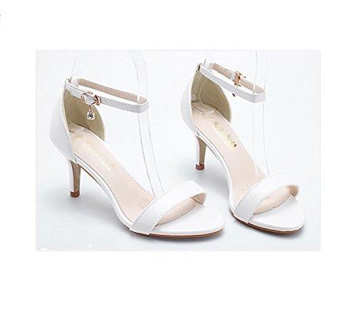 Heels Classic EIN Damen LIANGXIE formal sexy Schuhe Zhhzz Comfort High Sandalen Party Weiß Super Hochzeit echte Spitzige Schnalle Series Charakter 8twwdaq