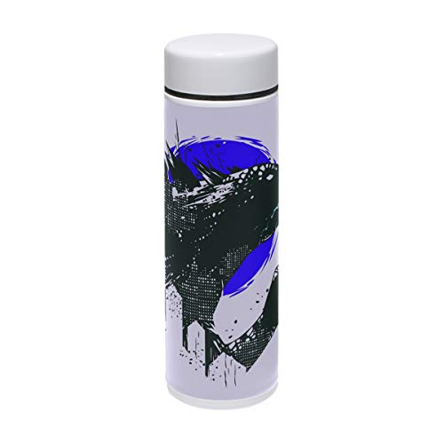 Jereee Godzilla Dinosaur Light Purple 7.5 oz Drink Flasks Travel Mug Sports Thermos Stainless Steel PU Leather Double Wall Vacuum Insulated Cup Christmas Birthday Gift for -