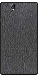 Funda para Sony Xperia Z (l36h) - Imitación De Cuero Gris