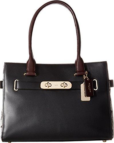 Coach da donna Color Block Exotics Coach questa borsa a tracolla a batteria, colore: nero