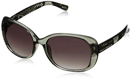 Adrienne Vittadini Women's AV1021 Square Sunglasses, Python, 56 - Sunglasses Adrienne Vittadini