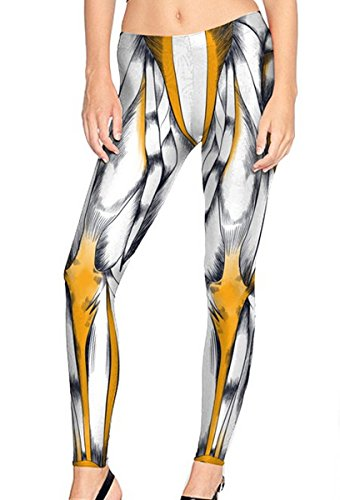 Mosszra Muscle Man Halloween Costumes Digital Print Stretch Tights Leggings]()