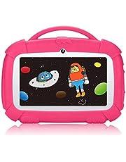 Padgene tablet voor kinderen 7 inch, Android 9.0 kindertablet educatieve tablet met kinderbeveiligingsmodus, IPS touchscreen, dual camera wifi, siliconen hoes voor jongens en meisjes