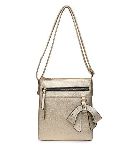 Body Cross Shoulder Gold Ladies Bag MA34956 Charm Women's Travel Bow Bag Handbag Messenger n1TqxOC8