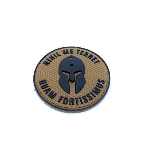 Patch Airsoft PVC Bronzage Nihil Me Terret Quam Fortissimus Spartan