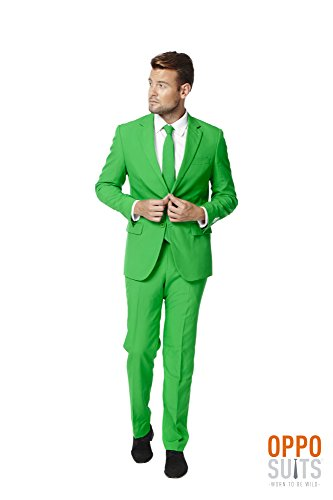 OppoSuits Men's Evergreen Party Costume Suit, Green, 42 by Opposuits