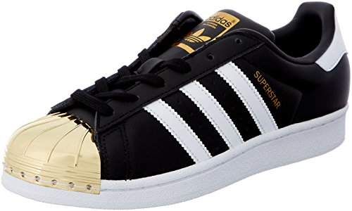 Adidas Superstar Black Core Footwear Metallic Metal Negro para Mujer White Gold Toe Zapatillas rrqwd8xHa