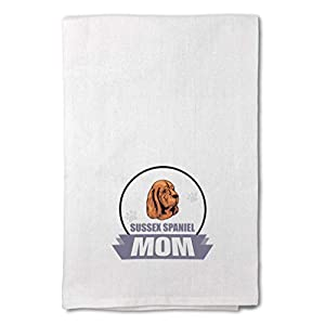 Style In Print Custom Decor Flour Kitchen Towels Mom Sussex Spaniel Dog Pets Dogs Cleaning Supplies Dish Towels Design Only 43