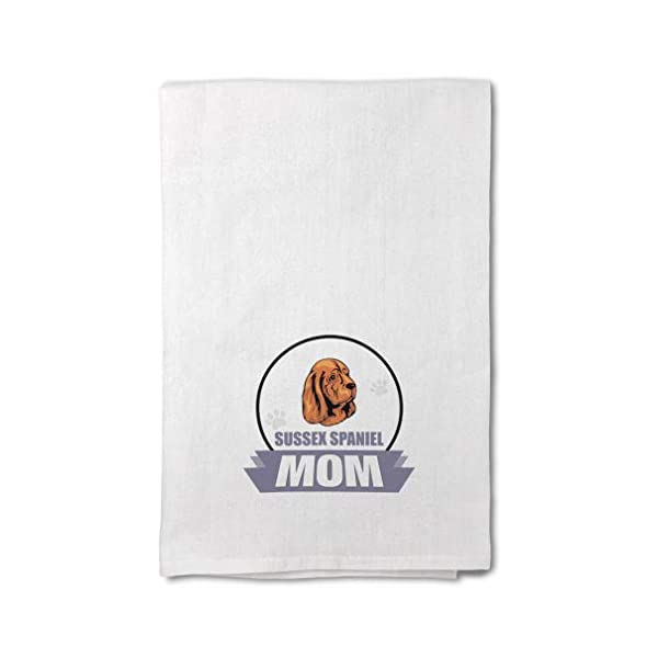 Style In Print Custom Decor Flour Kitchen Towels Mom Sussex Spaniel Dog Pets Dogs Cleaning Supplies Dish Towels Design Only 1