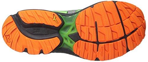 Mizuno Mens Wave Rider 20 G-tx Scarpe Da Corsa Green Flash / Clownfish