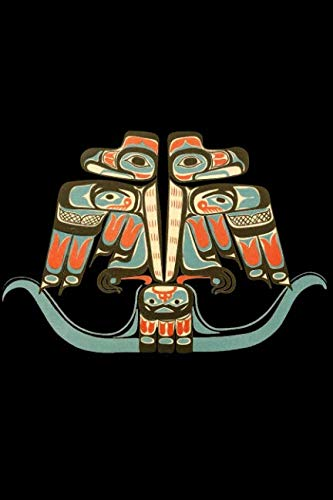 Thunderbird Notebook: Native American, Northwest Indian Haida Tribe Art - Lined 120 Pages 6x9 Journal