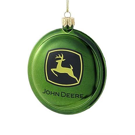 John Deere Logo Shatterproof Disc Christmas Ornament JR1154 Tractor Ornament  New - Amazon.com: John Deere Logo Shatterproof Disc Christmas Ornament