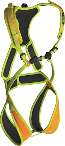 Full Body Climbing Harness (EDELRID - Fraggle II, Children's Safety Climbing Harness, Sahara/Oasis, X-Small)