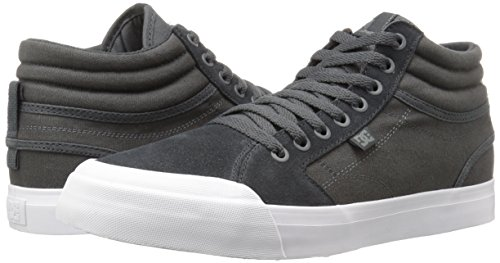 DC Men's Evan Smith Hi Sd Skateboarding Shoe, Dark Grey/White, 11.5 M US