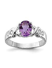 925 Sterling Silver Purple Amethyst Cubic Zirconia Cz Band Ring Stone Gemstone Fine Jewelry For Women Gifts For Her