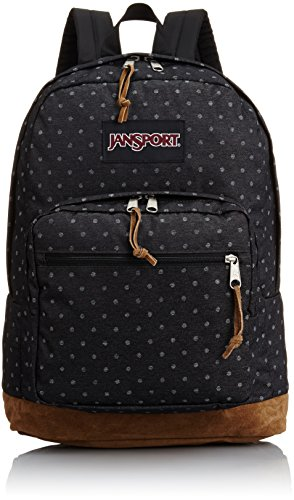 JanSport Right Pack Expressions backpack (Grey Denim Polka Dot) by JanSport