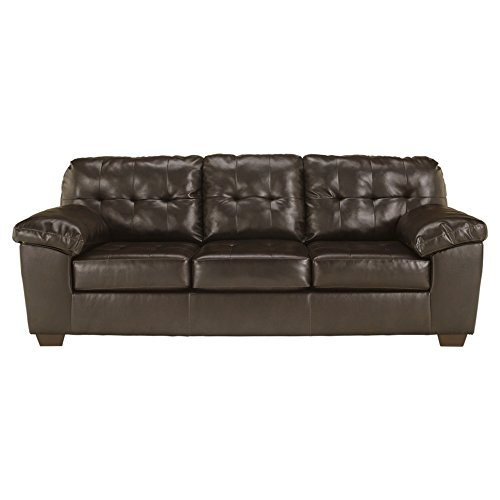 Ashley Furniture Signature Design - Alliston Contemporary Upholstered Sofa - Chocolate